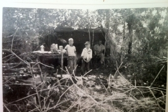 Grandpa Jack Shealy with the Mcquaids at loop south camp big Cypress Preserve
