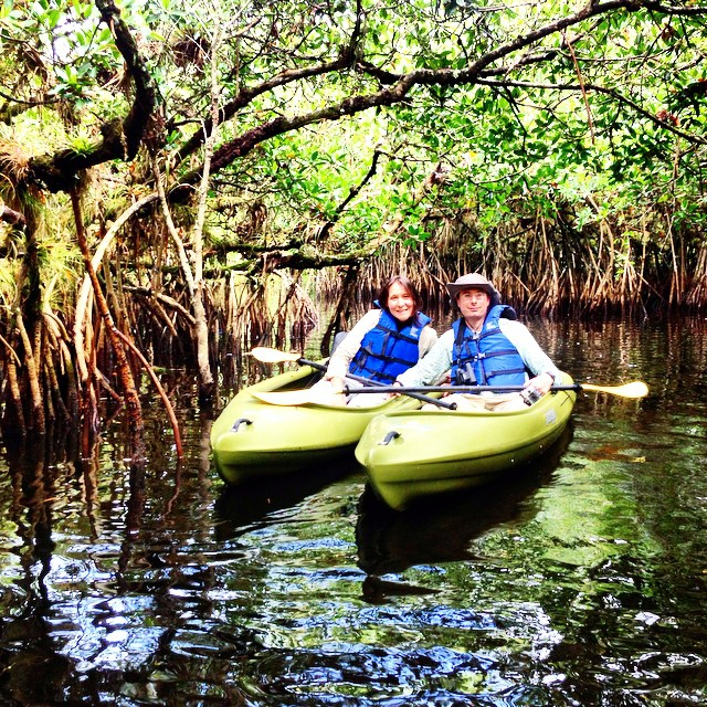 Couple on an Everglades #kayak #tour