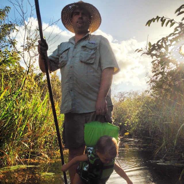 Me and Turner poling down Turner river last #october.#Everglades #culture#ecotourism #nationalpark #heritage#gladesmen